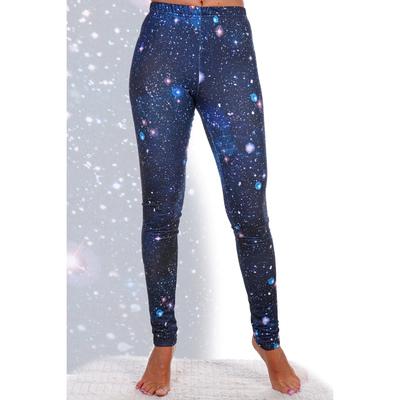 Брюки (легинсы) женские Юность цвет синий, принт звёзды, размер 48