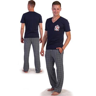 Комплект мужской (футболка, брюки) 1859 цвет МИКС, р-р 52
