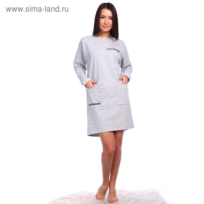 Платье женское Астория цвет светло-серый, р-р 54