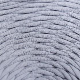 Пряжа трикотажная широкая 100м/350гр, ширина 7-9 мм (пепельный)