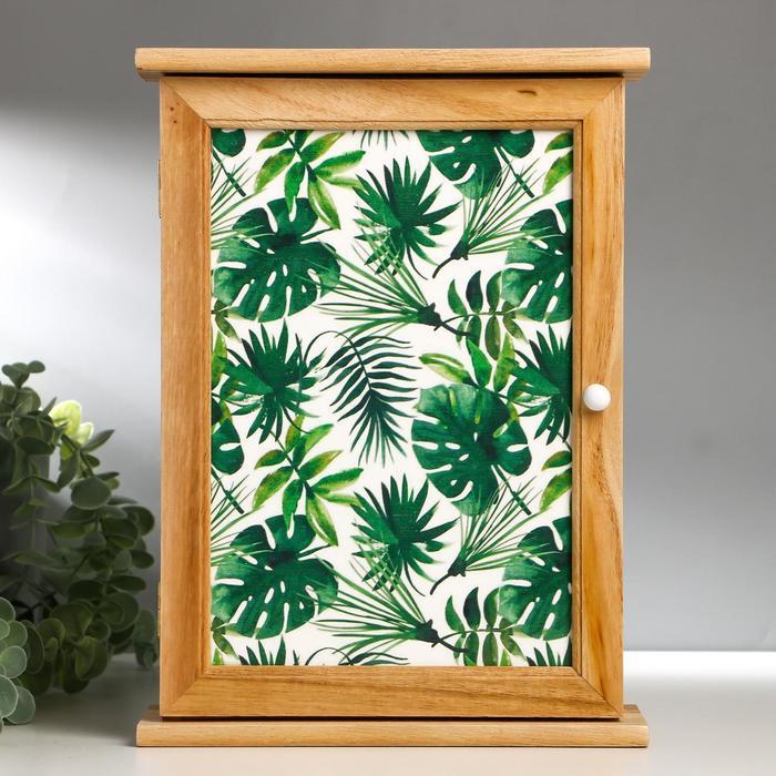 """Ключница дерево 6 крючков """"Пальмовые листья"""" 30х22х8 см"""
