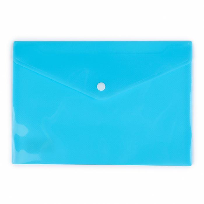 Папка-конверт на кнопке формат А5 180мкр МИКС рефленная
