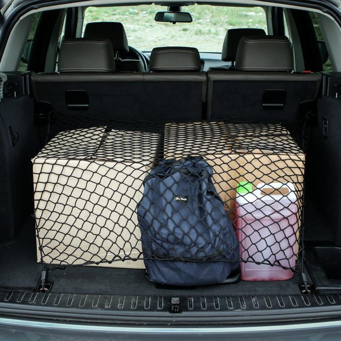 Сетка напольная, багажная 90х75 см, 4 пластиковых крючка