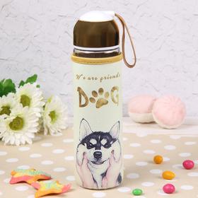 """Бутылка с ручкой 500 мл """"Пёс"""", рисунок МИКС"""
