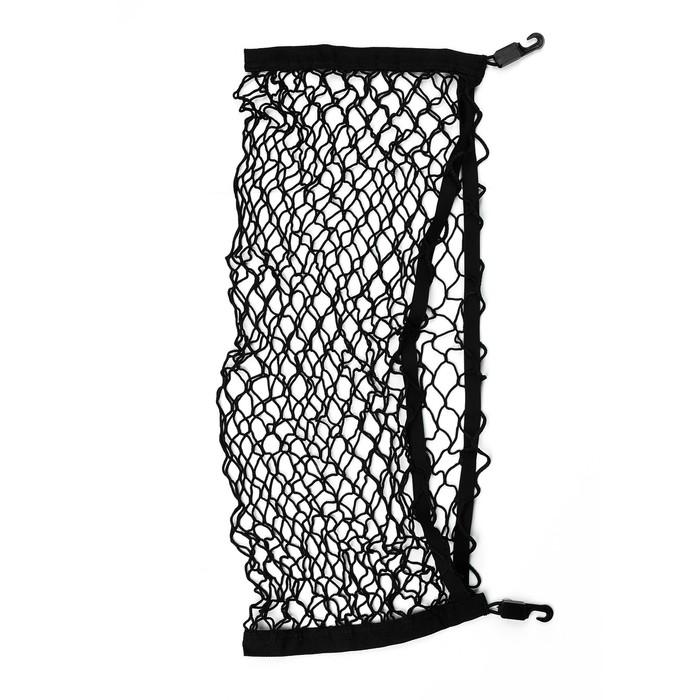 Сетка багажная 30х70 см, 2 пластиковых крючка, 2 крючка-самореза