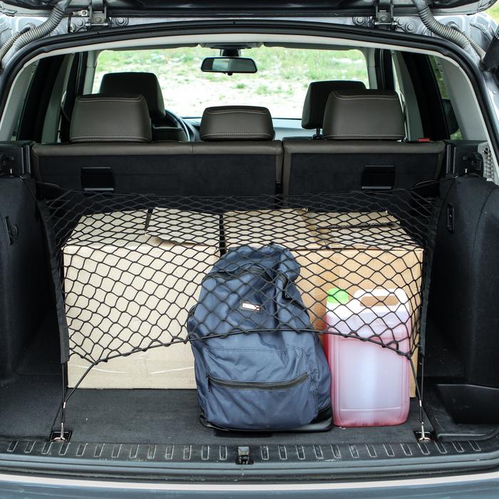 Сетка багажная 90х50 см, 2 пластиковых крючка
