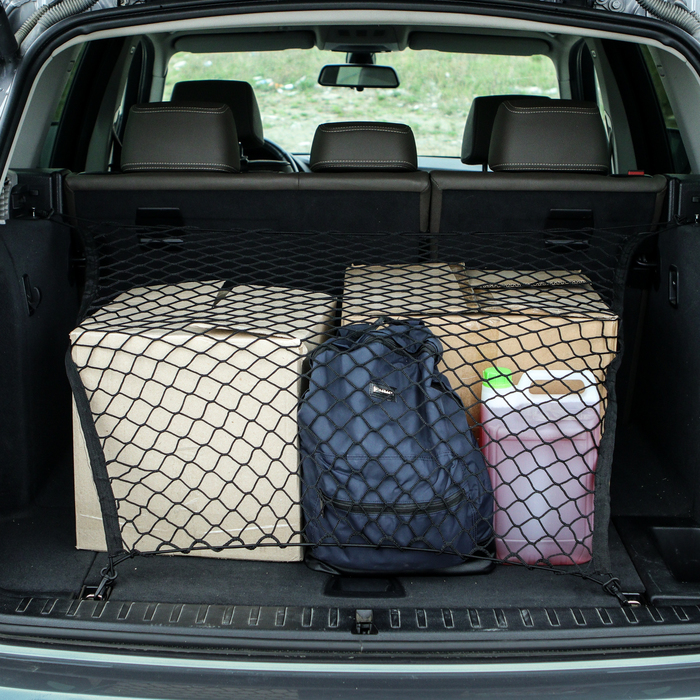 Сетка багажная 75х75 см, 2 пластиковых крючка