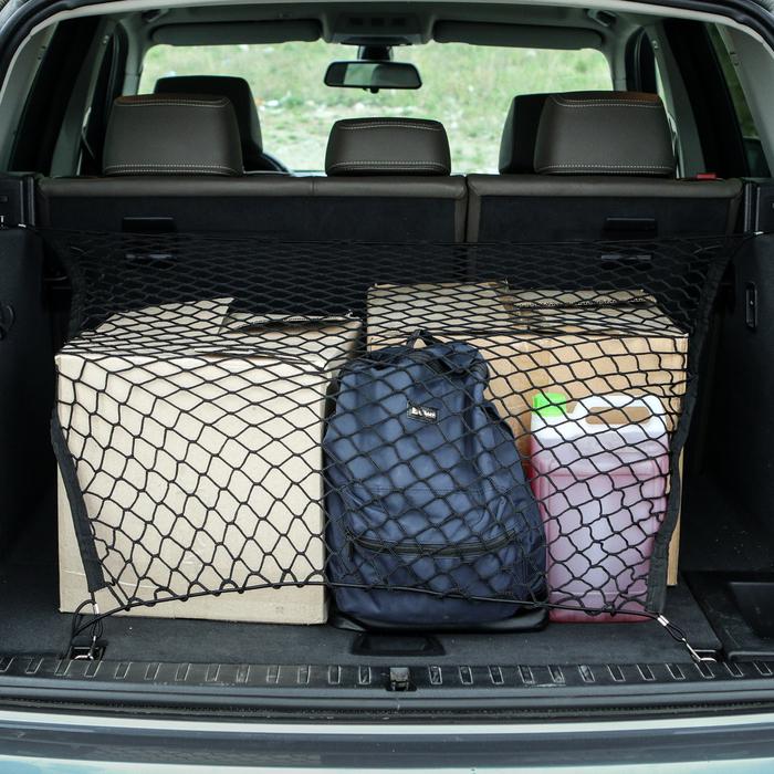Сетка багажная 75х90 см, 2 пластиковых крючка
