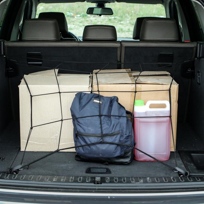 Сетка багажная 40х40 см, 6 пластиковых крючков