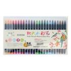 Фломастеры, 24 цвета, в пластиковой коробке, вентилируемый колпачок, «Кисти» - фото 7258107