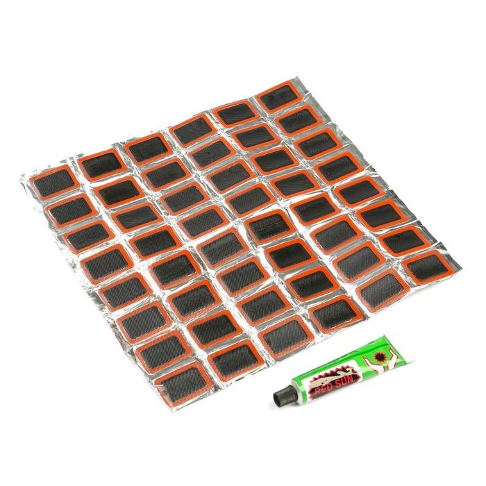 Резиновые заплатки для ремонта шин, набор 48 шт.