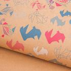 Бумага упаковочная крафтовая «Зайчики», 50 × 70 см