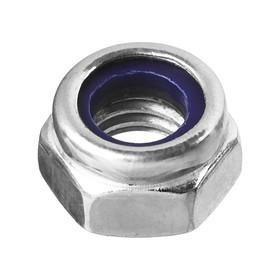 Гайка самоконтрящаяся, с нейлоновым кольцом DIN 985, 'ЗУБР', M3, оцинкованная, 18 шт. Ош