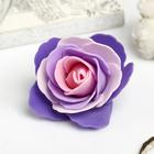 """Декор для творчества """"Четырёхцветная роза"""" фиолетовые оттенки 5х5 см"""