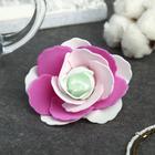 """Декор для творчества """"Четырёхцветная роза"""" розовые оттенки 5х5 см"""
