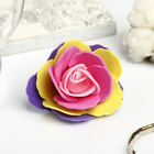 """Декор для творчества """"Четырёхцветная роза"""" разноцветье 5х5 см"""