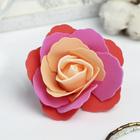 """Декор для творчества """"Четырёхцветная роза"""" красные оттенки 5х5 см"""
