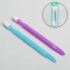 Пушер пластиковый, двусторонний, 11см, 2шт, цвет МИКС