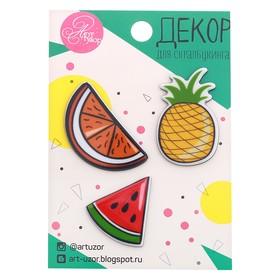"Acrylic set of jewelry, ""Fruit mix"", 7 x 11 cm"