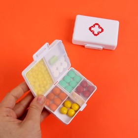 Таблетница «Аптечка», 7 секций, цвет белый