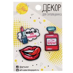 """Acrylic set of jewelry, """"Glamour"""", 7 x 11 cm"""