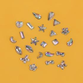 Rhinestones Assorted for nail art decoration, 2-3mm, colour silver