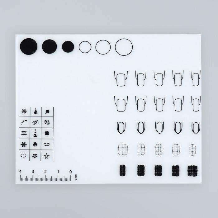Коврик для дизайна ногтей, силиконовый, 18 × 15 см
