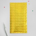 """Tape for nail design """"Holography. Squares"""", adhesive, 30 strips per sheet, 12.5 cm, color Golden"""