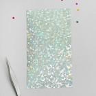 """Фольга для дизайна ногтей """"Голография. Круги"""", клеевая, 30 полосок на листе, 12,5см, цвет серебряный"""