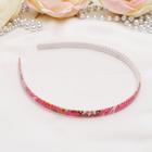 The headband Olivia 0.8 cm, prints, mixed