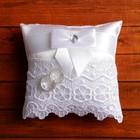 Cushion for rings, satin, white