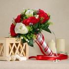 Букет для невесты «Анна», бело-красный