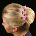 """Набор цветков на шпильке """"Розочка"""", 10 шт, розовый"""