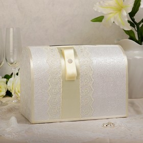 Коробка для денег «Аля», айвори, неразборная