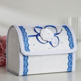 Коробка для денег «Альт», синяя, разборная