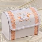 Коробка для денег «Альт», персиковая, разборная