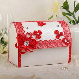 Коробка для денег «Анта», бело-красная, разборная