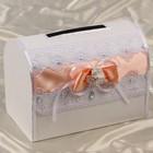 Коробка для денег «Аэлита», персиковая, неразборная