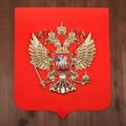 Герб России 40х48 см пластик, металлизация