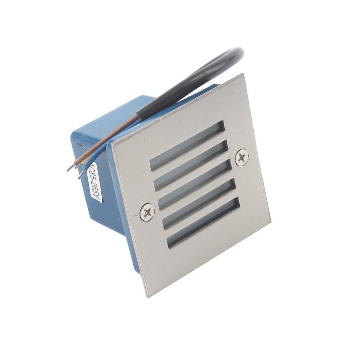 Светильник светодиодный грунтовый квадрат Luazon 2 Вт, IP65, 220 В, СИНИЙ