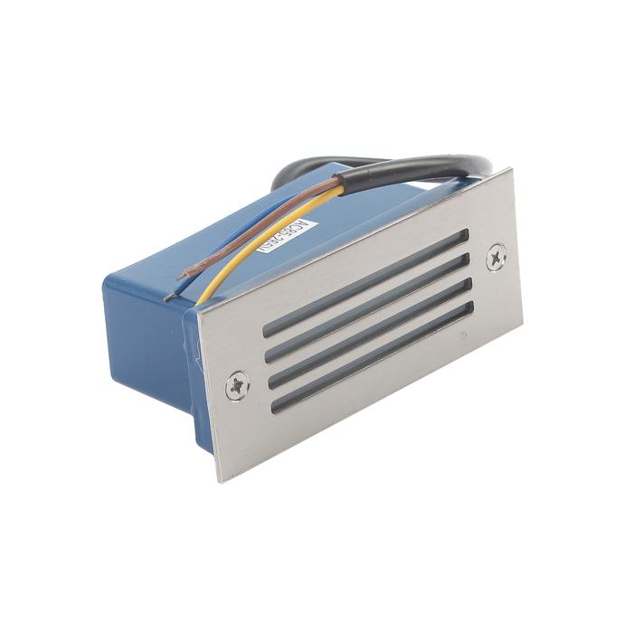 Светильник светодиодный грунтовый вытянутый Luazon 2 Вт,110х45х55 мм,IP65,220В, КРАСНЫЙ