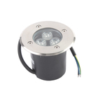 Светильник встраиваемый светодиодный грунтовый Luazon 3 Вт, d=90 мм, IP65, 220В, СИНИЙ
