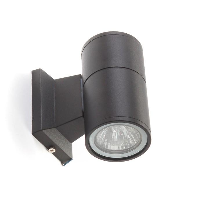 Светильник фасадный Luazon GU10 мм, 65 x 120 мм, IP65, 220 В, Черный корпус