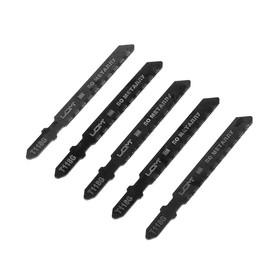 Пилки для лобзика LOM, HSS, по металлу, 5 шт. 50/75 х 0.8 мм, T118G Ош