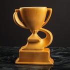 Кубок керамический, спортивный, золотой, глянец