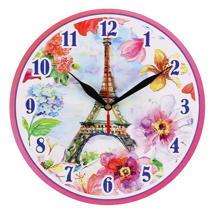 """Часы-винтаж """"Париж в цветах"""""""