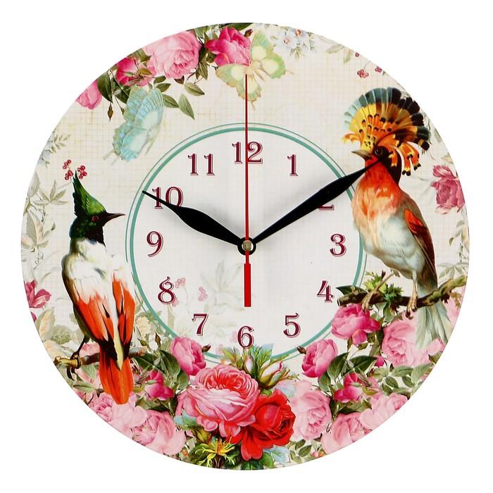 """Часы-винтаж """"Птицы в цветах"""""""