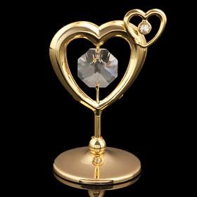 Сувенир «Сердце», 5,5х4х3 см, с кристаллами Сваровски в Донецке