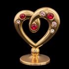 Сувенир «Сердце», 4х3х2 см, с кристаллами Сваровски