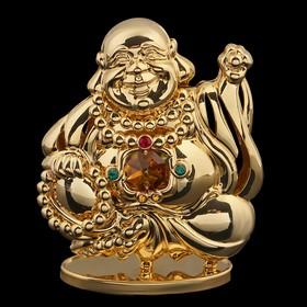 Сувенир «Будда», 9,5×8×3,5 см, с кристаллами Сваровски